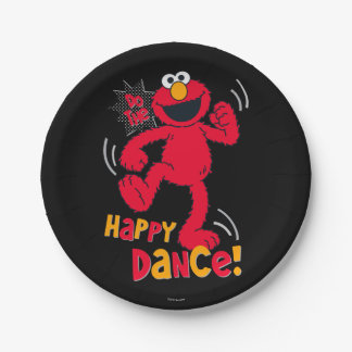 Elmo | Do the Happy Dance 7 Inch Paper Plate
