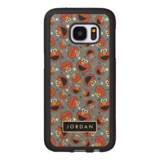 Elmo | Elmo Rules Star Pattern | Add Your Name Wood Samsung Galaxy S7 Case