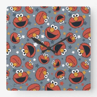 Elmo | Elmo Rules Star Pattern Square Wall Clock