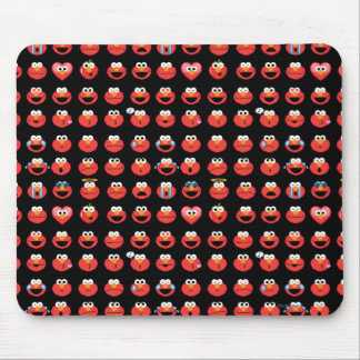Elmo Emoji Pattern Mouse Pad