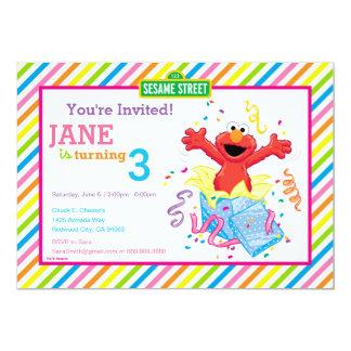 Elmo Girl's Birthday 13 Cm X 18 Cm Invitation Card