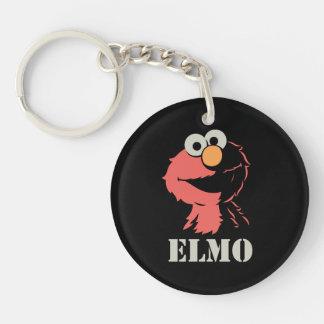 Elmo Half Double-Sided Round Acrylic Key Ring
