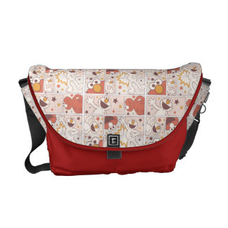 Elmo | Happy Little Monster Comic Pattern Commuter Bag