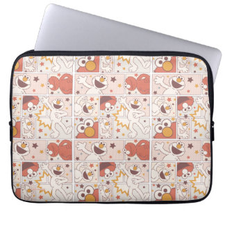 Elmo | Happy Little Monster Comic Pattern Laptop Sleeve