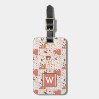 Elmo | Happy Little Monster Comic Pattern Luggage Tag
