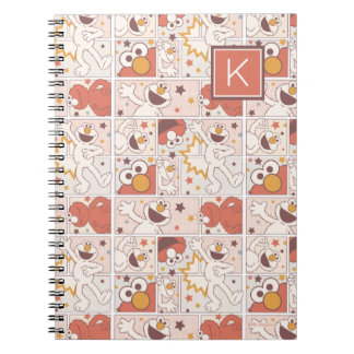 Elmo | Happy Little Monster Comic Pattern | Monogr Spiral Notebook