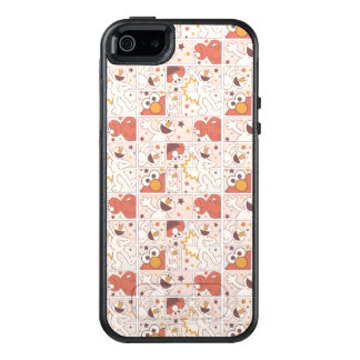 Elmo | Happy Little Monster Comic Pattern OtterBox iPhone 5/5s/SE Case