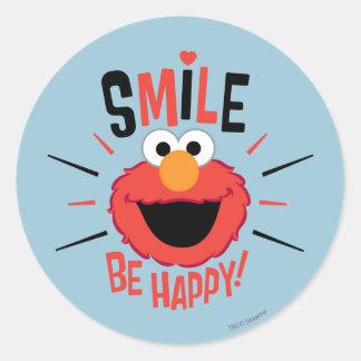 Elmo Happy Smile Classic Round Sticker