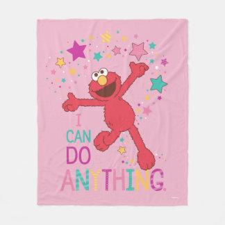 Elmo   I Can Do Anything Fleece Blanket
