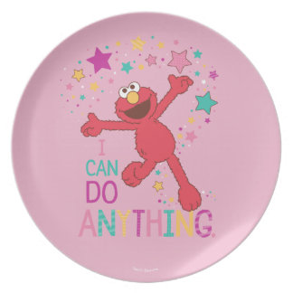 Elmo | I Can Do Anything Plate