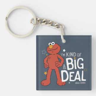Elmo | I'm Kind of a Big Deal Double-Sided Square Acrylic Key Ring