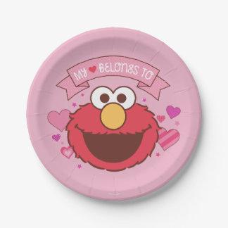 Elmo | My Heart Belongs To Elmo 7 Inch Paper Plate