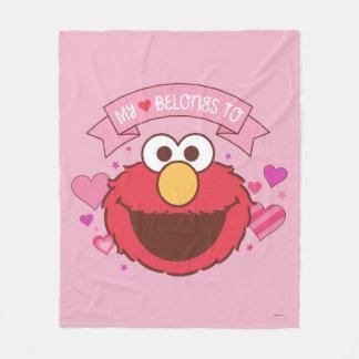 Elmo   My Heart Belongs To Elmo Fleece Blanket