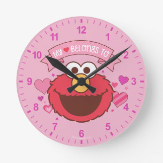 Elmo | My Heart Belongs To Elmo Round Clock