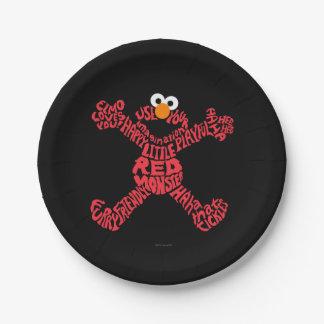 Elmo Pattern Fill Paper Plate