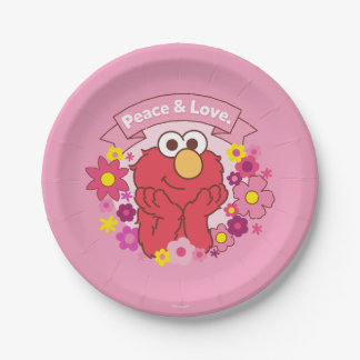Elmo | Peace & Love 7 Inch Paper Plate