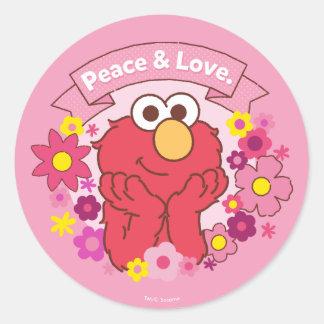 Elmo | Peace & Love Classic Round Sticker