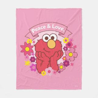 Elmo   Peace & Love Fleece Blanket