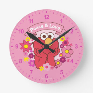 Elmo | Peace & Love Round Clock