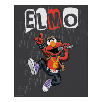Elmo Rockin' Out Poster