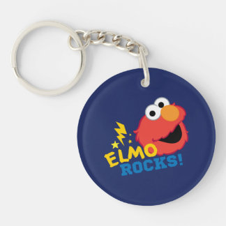 Elmo Rocks Double-Sided Round Acrylic Key Ring