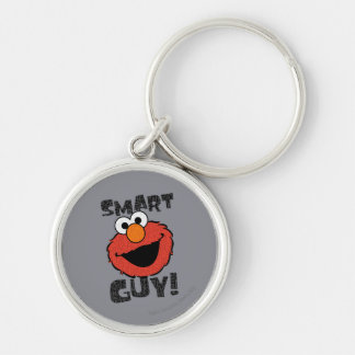 Elmo Smart Silver-Colored Round Key Ring