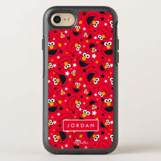 Elmo | So Silly Star Pattern | Add Your Name OtterBox Symmetry iPhone 8/7 Case