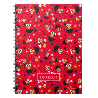 Elmo   So Silly Star Pattern   Add Your Name Spiral Notebook