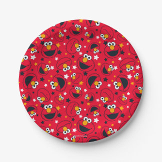 Elmo | So Silly Star Pattern Paper Plate