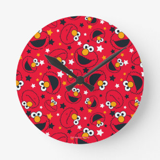 Elmo | So Silly Star Pattern Round Clock