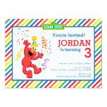 Elmo Striped Birthday 13 Cm X 18 Cm Invitation Card