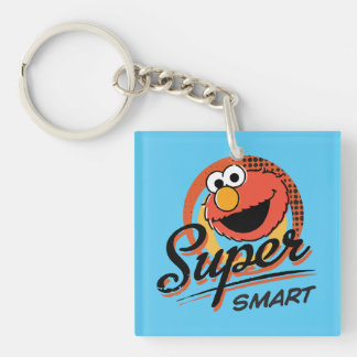 Elmo Super Smart Comic Double-Sided Square Acrylic Key Ring