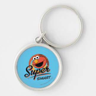 Elmo Super Smart Comic Silver-Colored Round Key Ring
