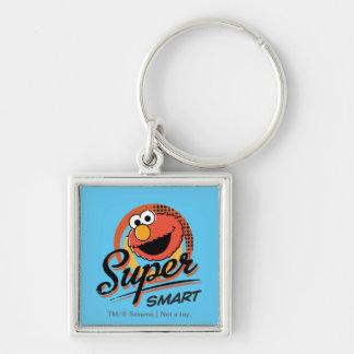 Elmo Super Smart Comic Silver-Colored Square Key Ring
