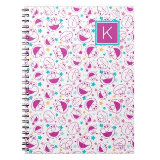 Elmo   Sweet & Cute Star Pattern   Monogram Notebook