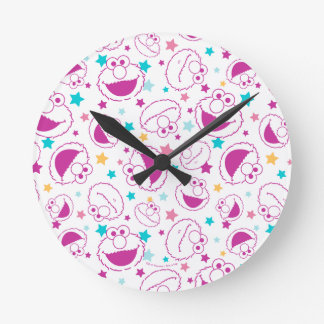 Elmo | Sweet & Cute Star Pattern Round Clock