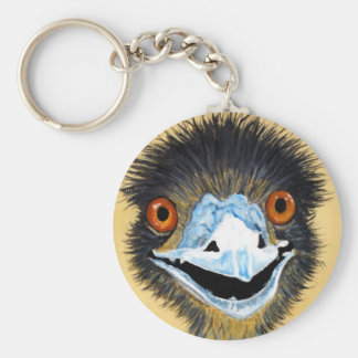 Elmo the Emu Basic Round Button Key Ring