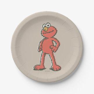 Elmo Vintage Paper Plate