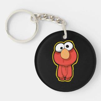 Elmo Zombie Double-Sided Round Acrylic Key Ring