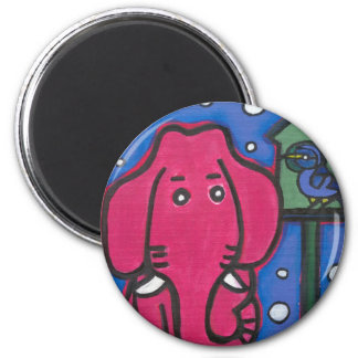 eloise the elephant loves her bird Fridge Magnet