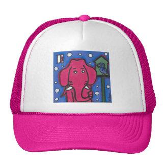 eloise the elephant loves her bird Trucker Cap Hats
