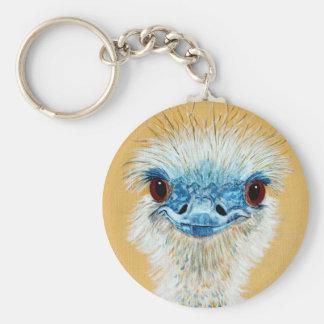 Eloise the Emu Basic Round Button Key Ring
