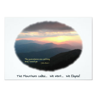 Eloped in the Mountains / Mtns Called - We Eloped! Card