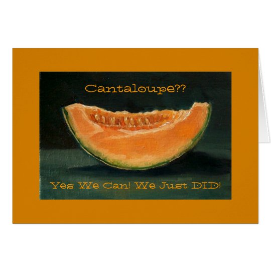 Elopement Announcement: Cantaloupe, Pun, Funny Card