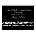 Elopement Announcement Postcards Black and White