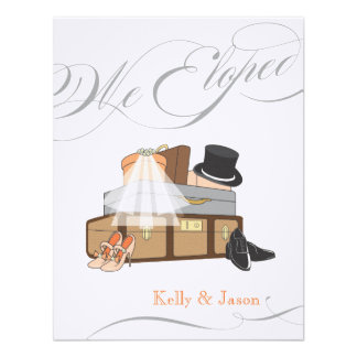 Elopement Wedding Announcement - Orange