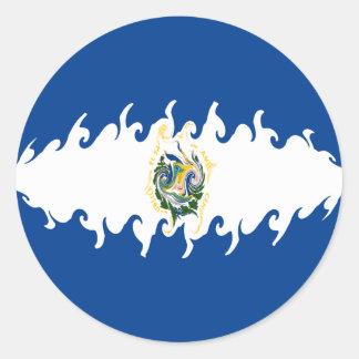 ElSalvador Gnarly Flag Sticker