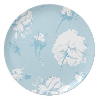 Elsie aqua picnic plate