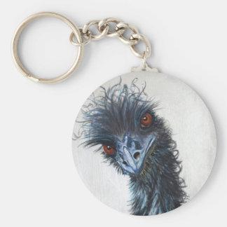 Elsie the Emu Basic Round Button Key Ring