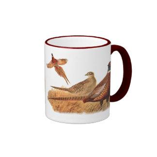 Elusive Pheasant Bird Hunting Ringer Mug